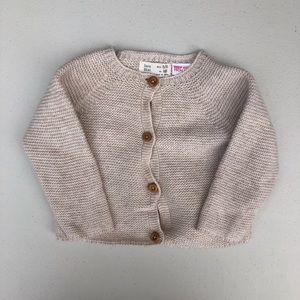 Zara | oatmeal beige knit sweater cardigan
